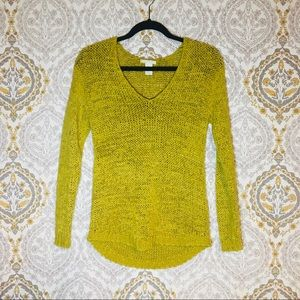 Mustard Yellow knit sweater